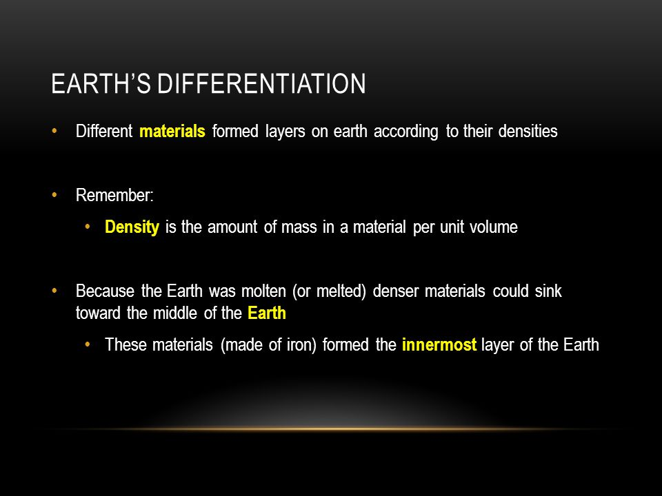 Earth's Differentiation