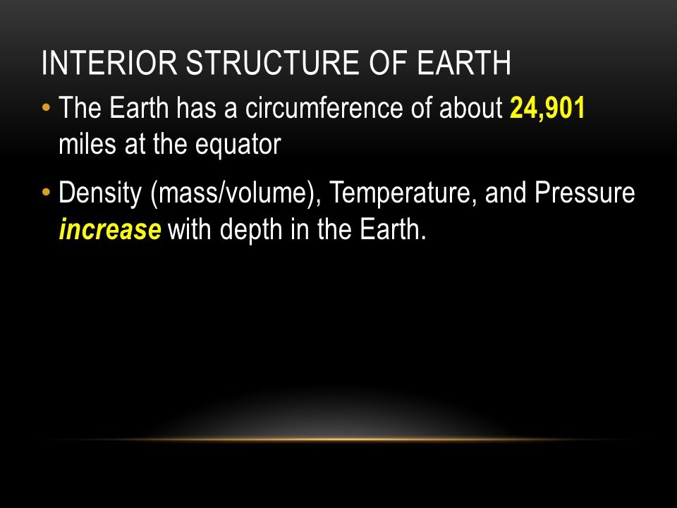 Interior Structure of Earth