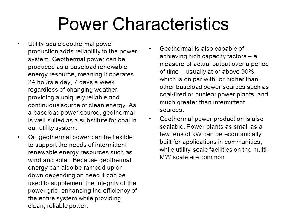 Power Characteristics
