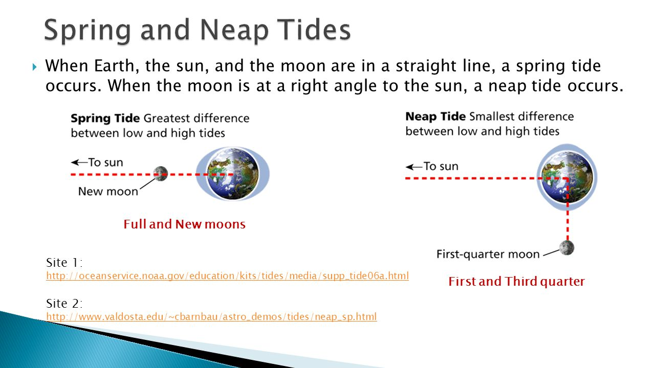 Spring and Neap Tides - Phases, Eclipses, and Tides.