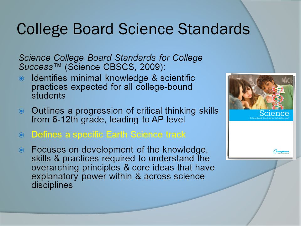 College Board Science Standards