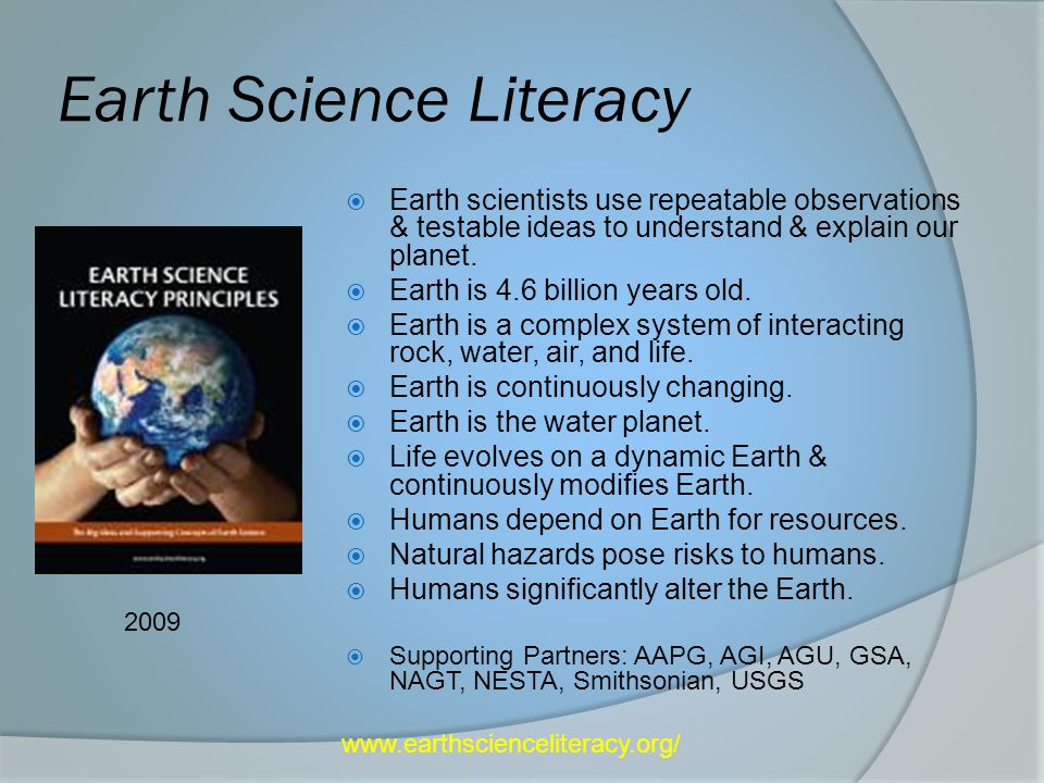 Earth Science Literacy