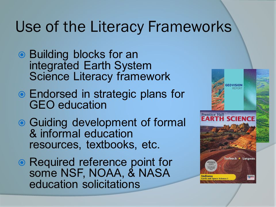 Use of the Literacy Frameworks