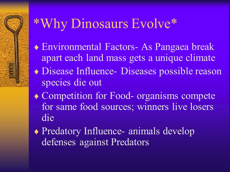 *Why Dinosaurs Evolve*