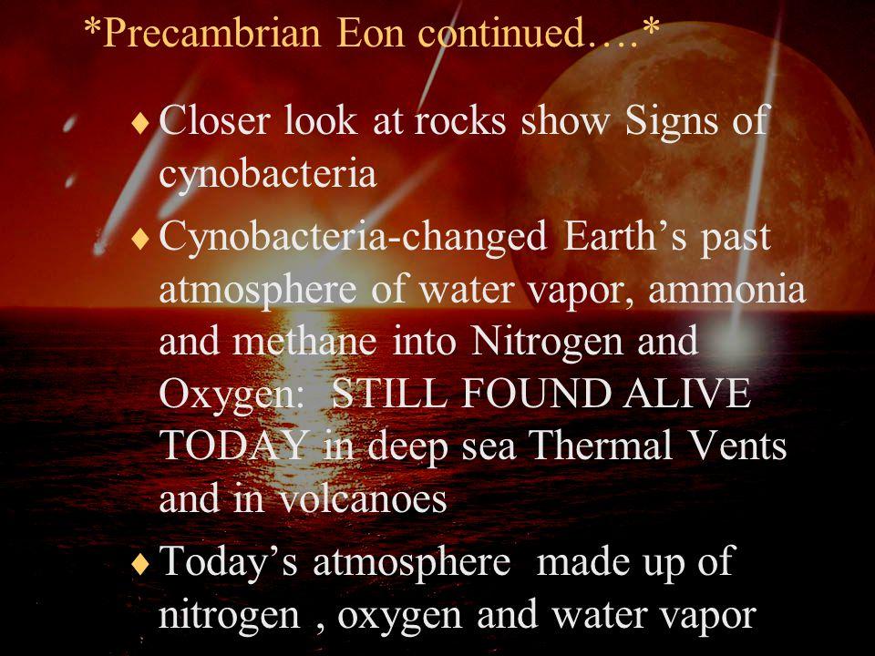 *Precambrian Eon continued….*