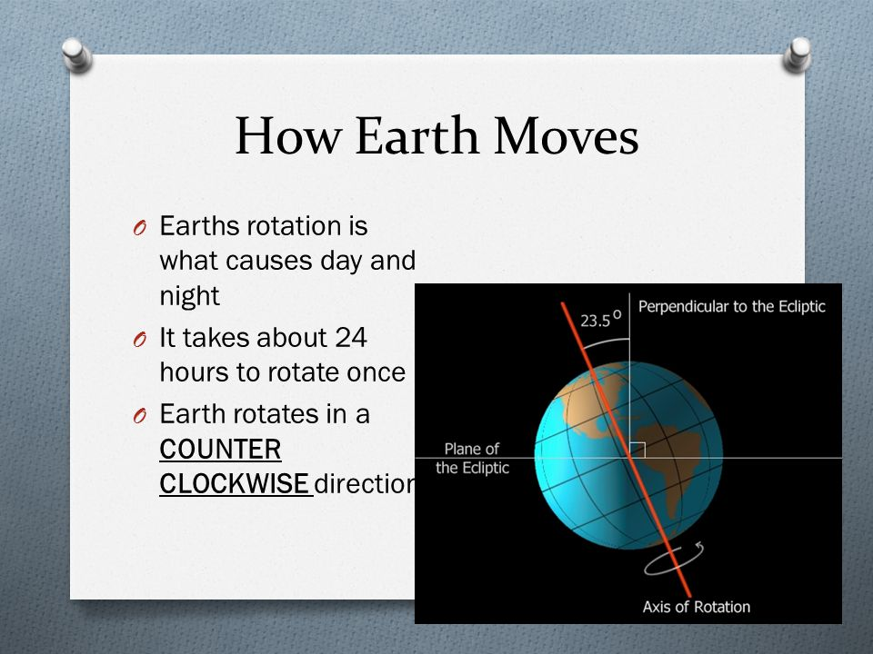 How Earth Moves Earths rotation is what causes day and night
