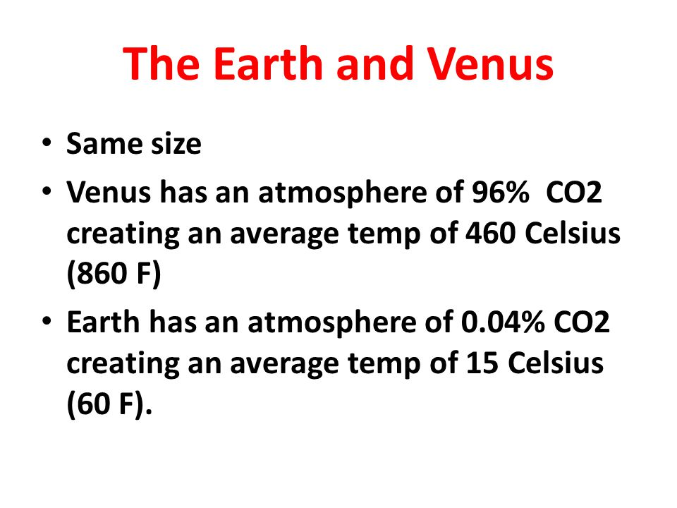 The Earth and Venus Same size