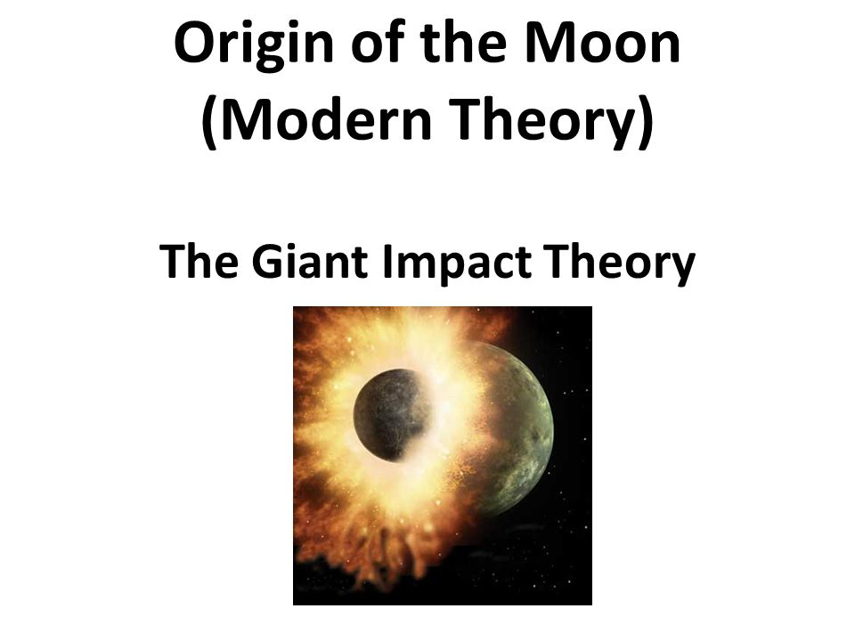 Origin of the Moon (Modern Theory)