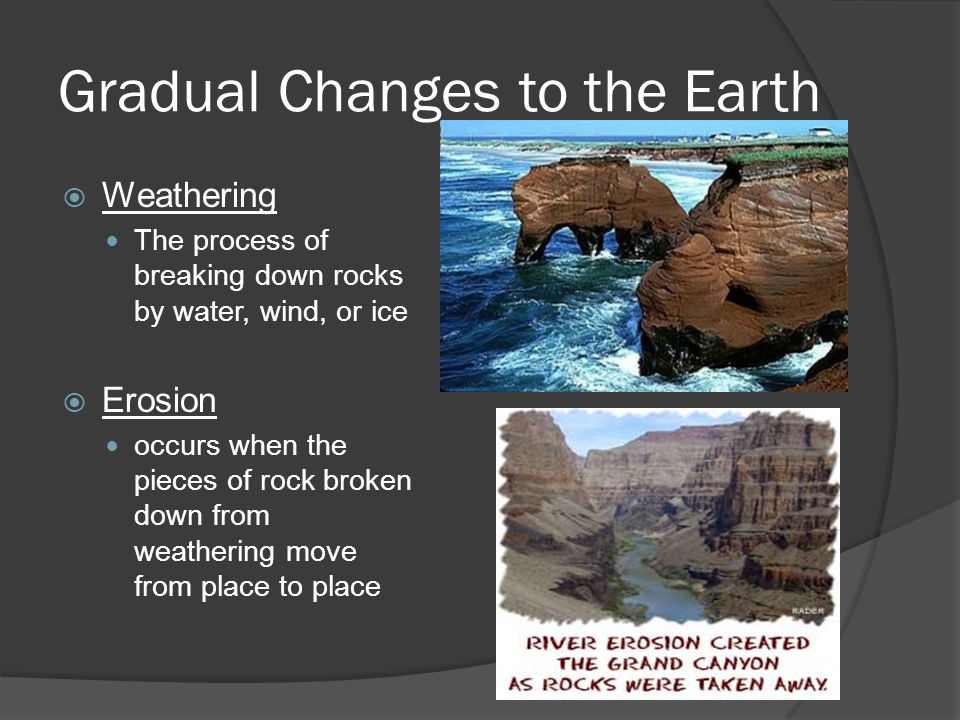 Gradual Changes to the Earth