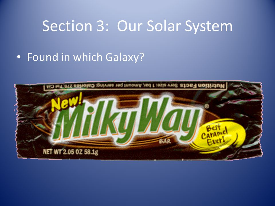 Section 3: Our Solar System