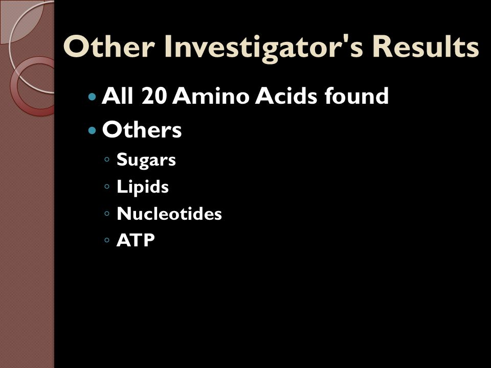 Other Investigator s Results