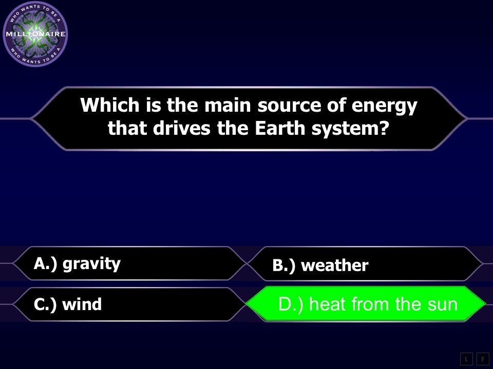 Which is the main source of energy that drives the Earth system