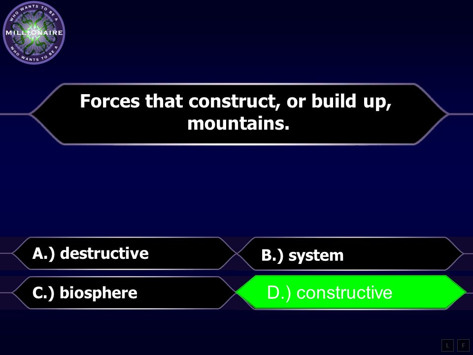 Forces that construct, or build up,