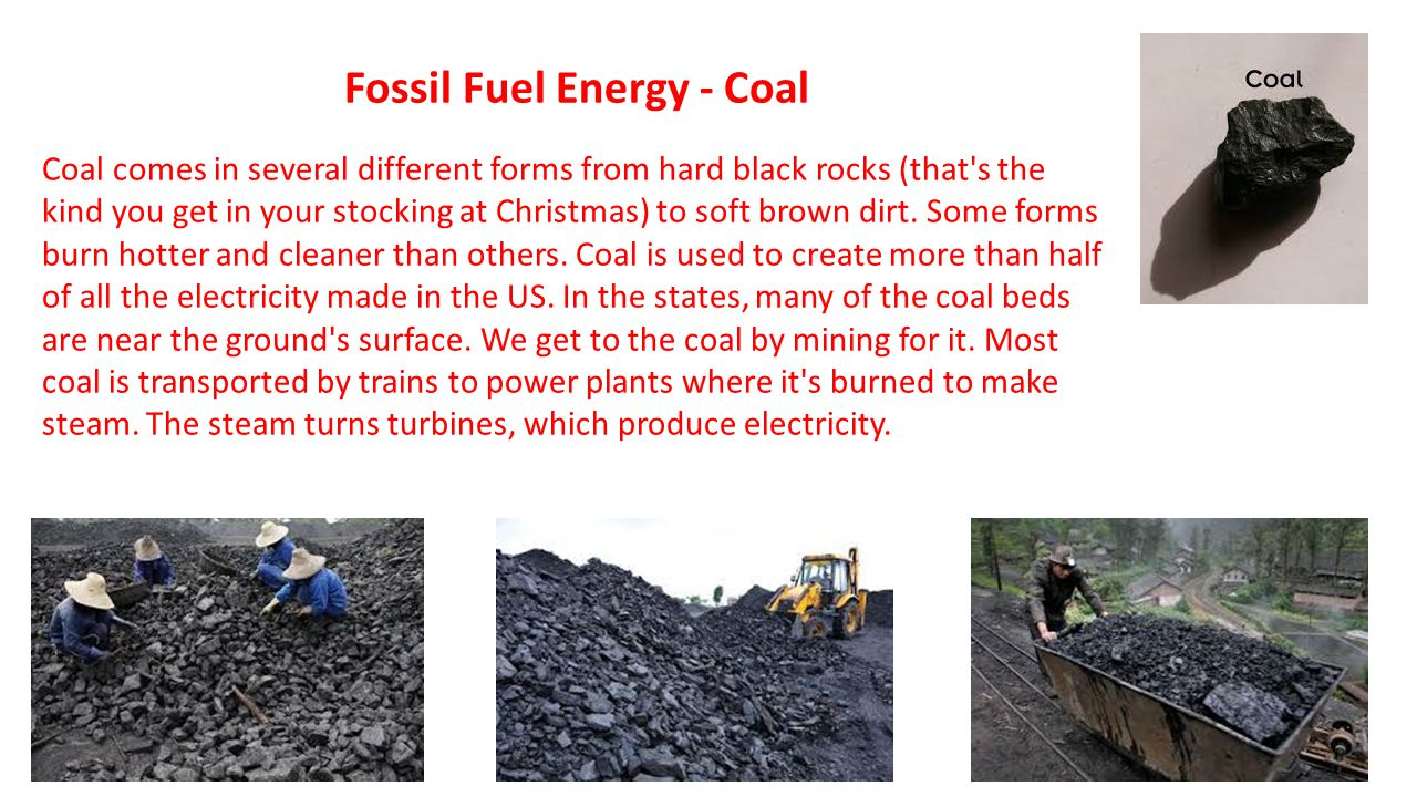 Fossil Fuel Energy - Coal