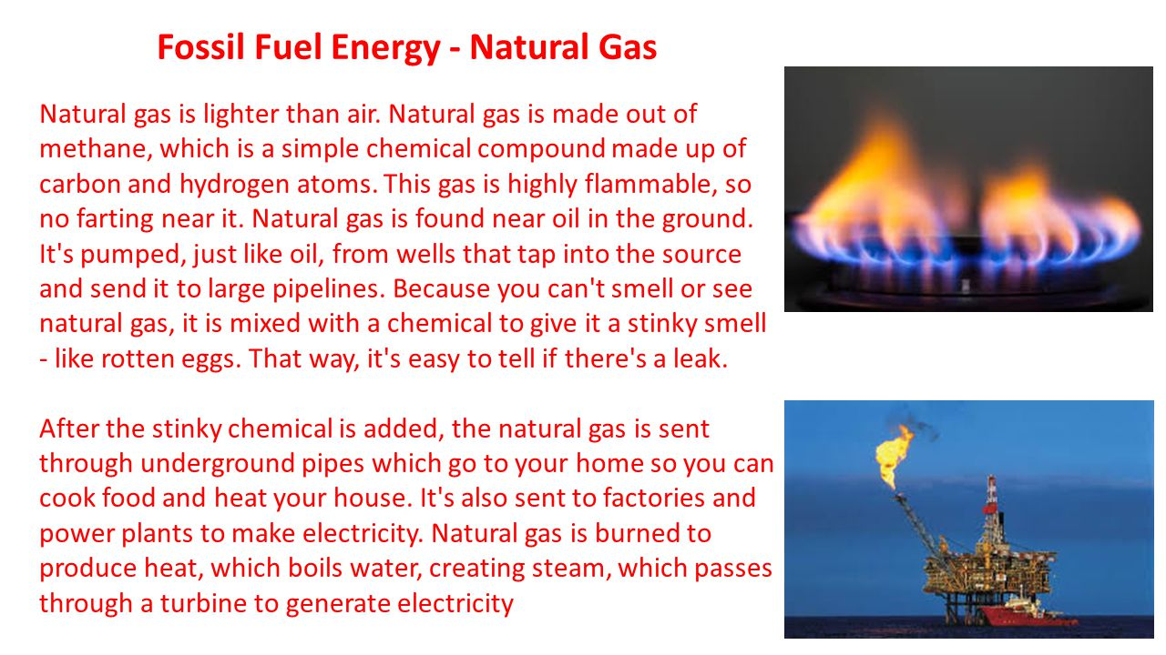 Fossil Fuel Energy - Natural Gas