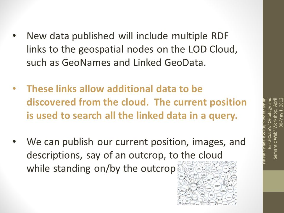 New data published will include multiple RDF links to the geospatial nodes on the LOD Cloud, such as GeoNames and Linked GeoData.
