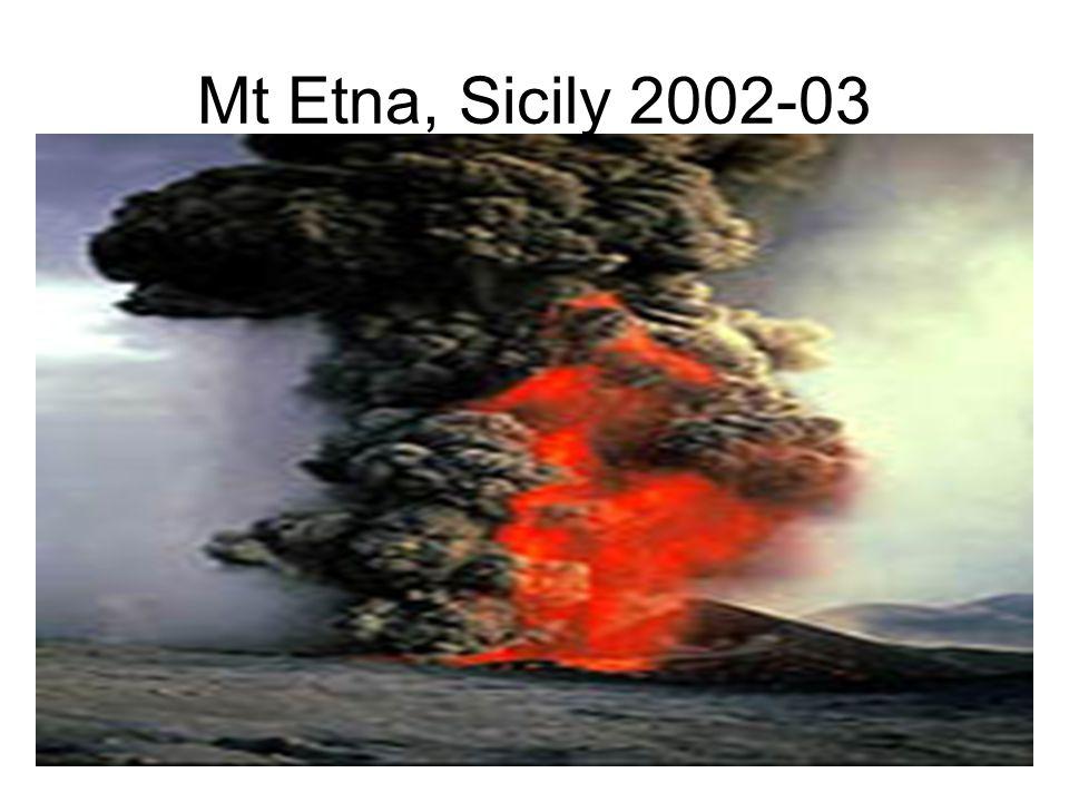 Mt Etna, Sicily 2002-03