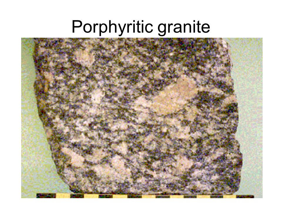 Porphyritic granite