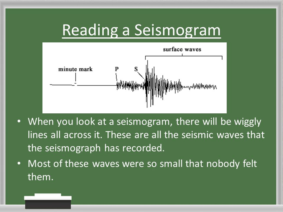 Reading a Seismogram