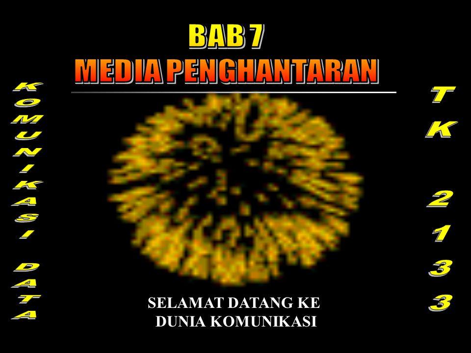 BAB 7 MEDIA PENGHANTARAN KOMUNIKASI DATA TK 2133 SELAMAT DATANG KE