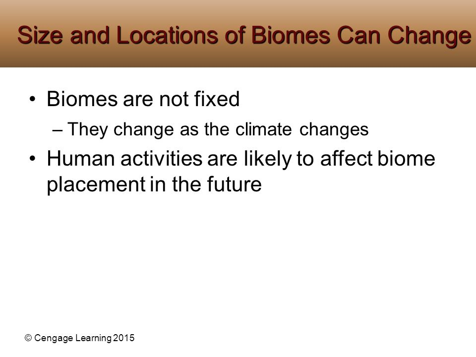 Size and Locations of Biomes Can Change