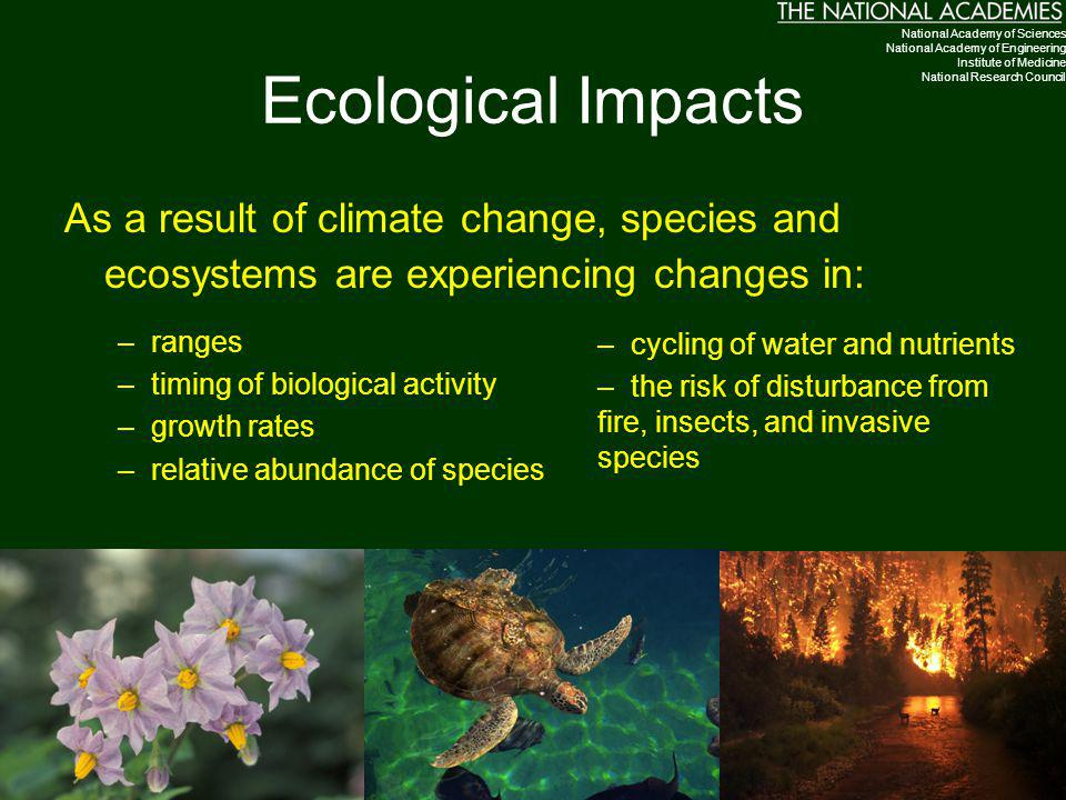 Ecological Impacts National Academy of Sciences. National Academy of Engineering. Institute of Medicine.