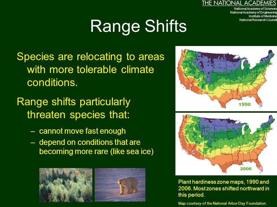 Range Shifts National Academy of Sciences. National Academy of Engineering. Institute of Medicine.