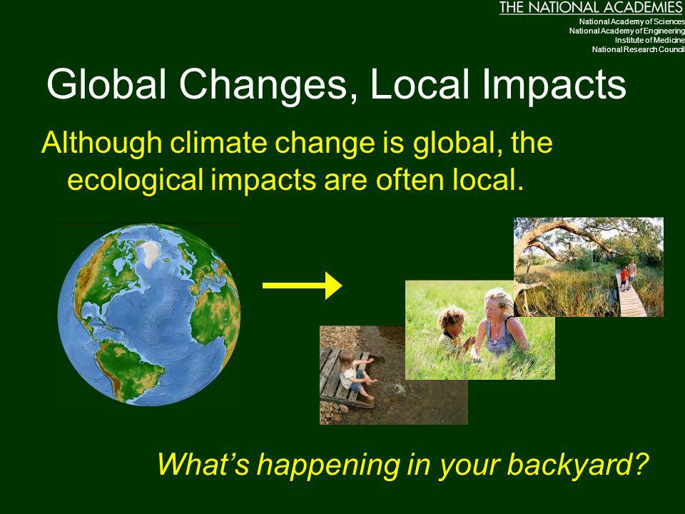 Global Changes, Local Impacts