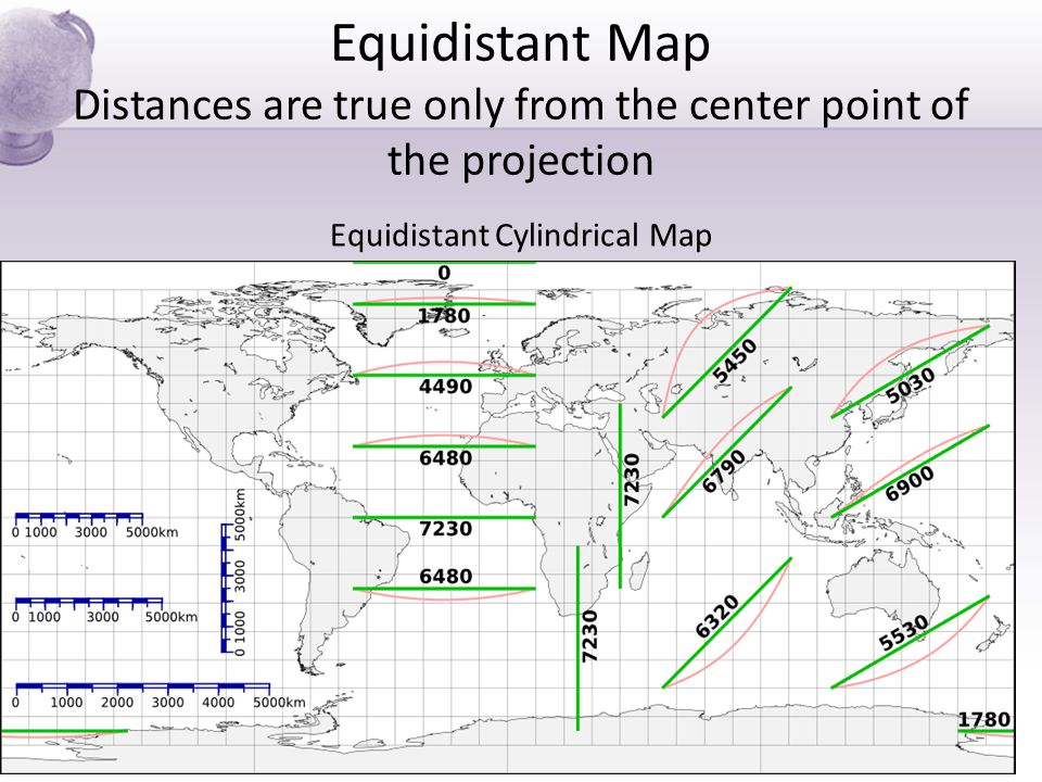 Equidistant Cylindrical Map