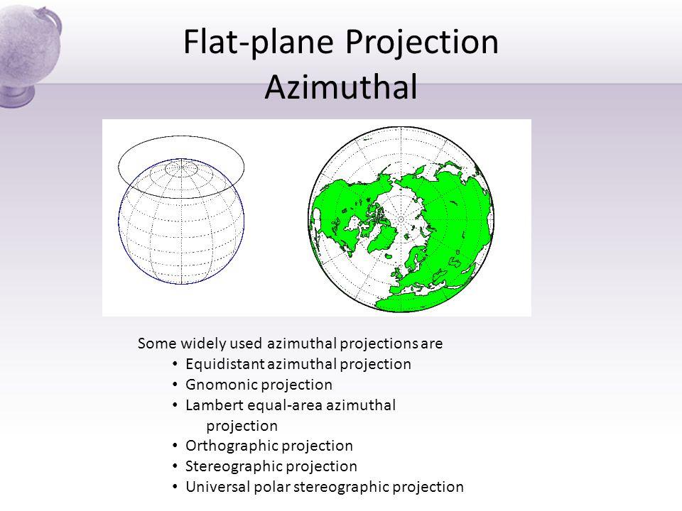 Flat-plane Projection Azimuthal