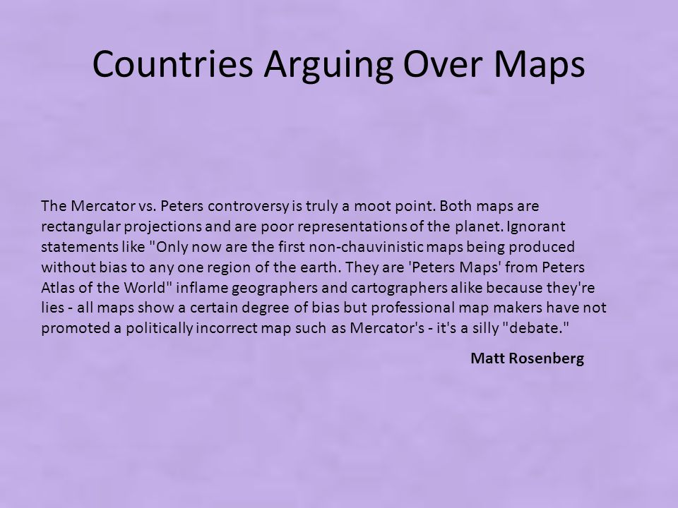 Countries Arguing Over Maps