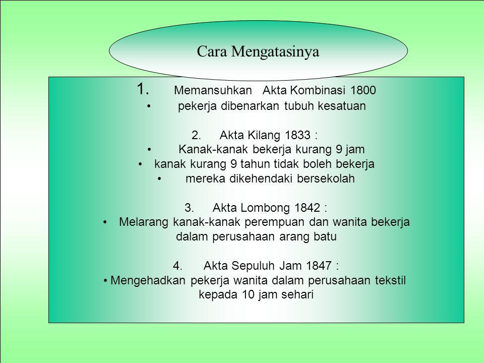 1. Memansuhkan Akta Kombinasi 1800