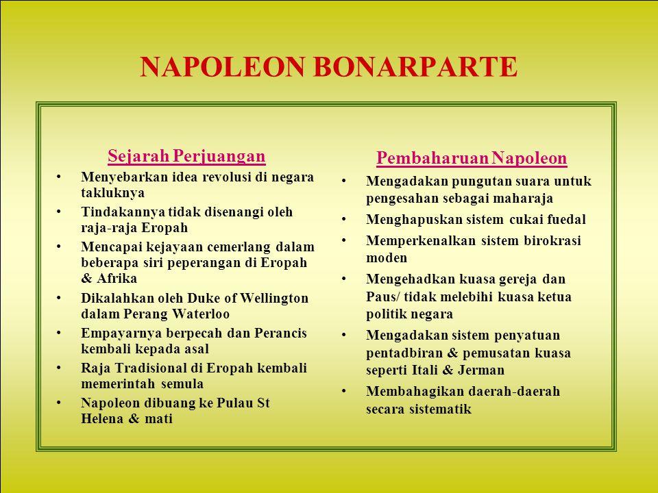 NAPOLEON BONARPARTE Sejarah Perjuangan Pembaharuan Napoleon