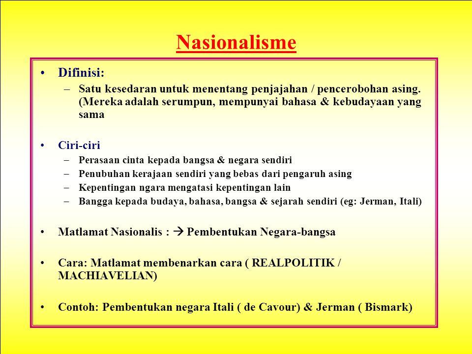 Nasionalisme Difinisi: