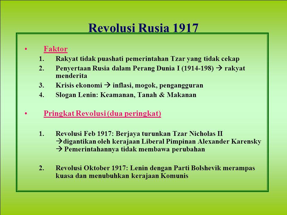 Revolusi Rusia 1917 Faktor Pringkat Revolusi (dua peringkat)
