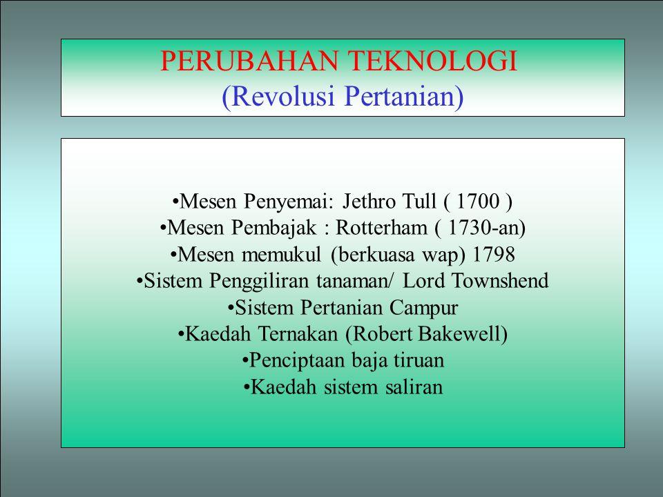 PERUBAHAN TEKNOLOGI (Revolusi Pertanian)