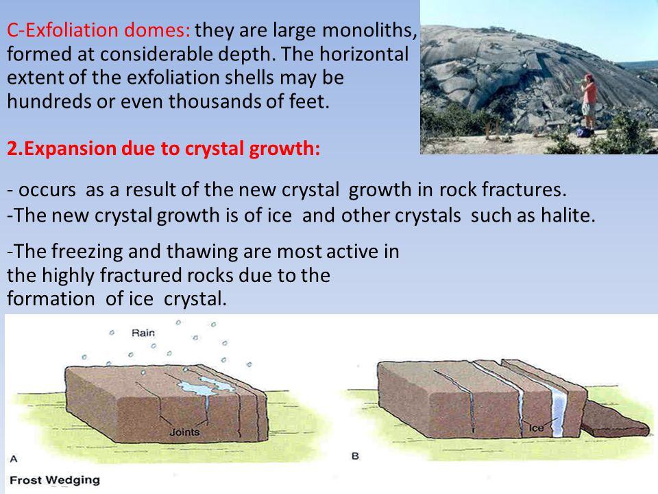 C-Exfoliation domes: they are large monoliths,
