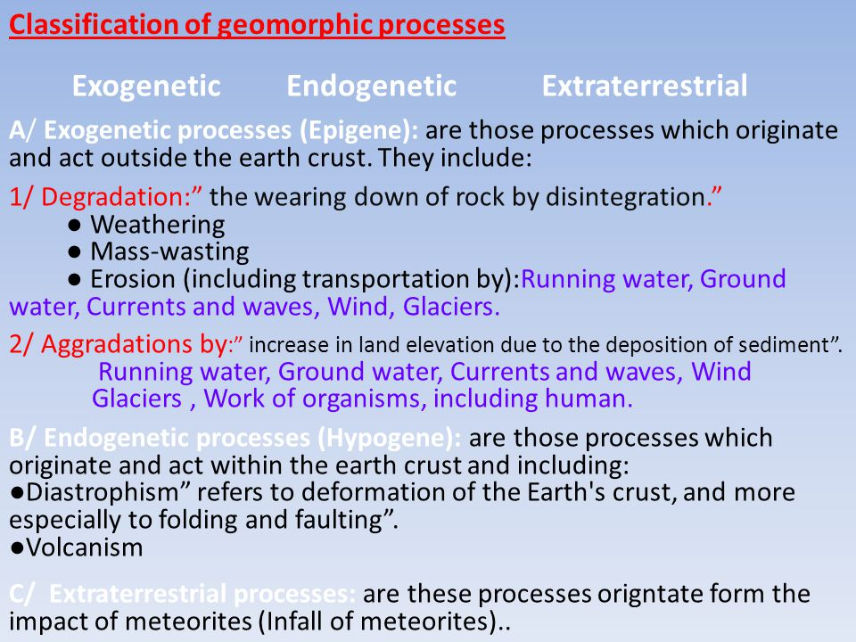 Exogenetic Endogenetic Extraterrestrial