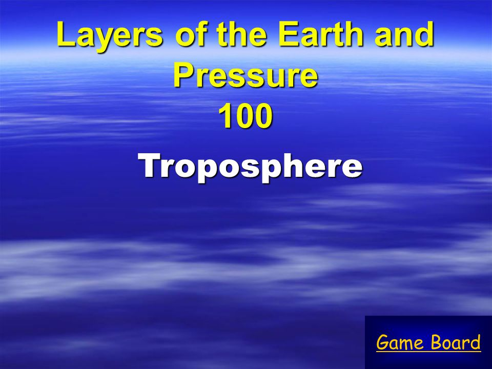 Layers of the Earth and Pressure 100