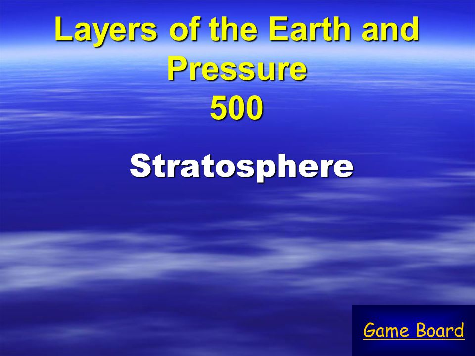 Layers of the Earth and Pressure 500