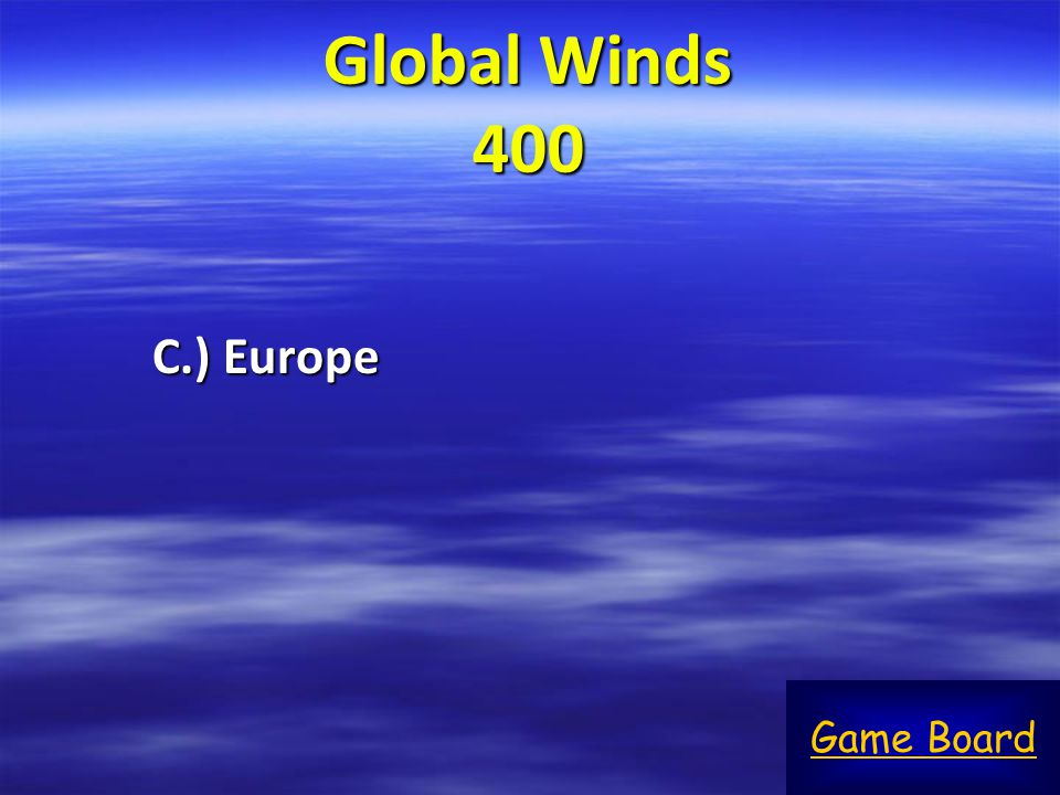 Global Winds 400 C.) Europe Game Board