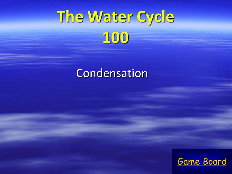 The Water Cycle 100 Condensation Game Board