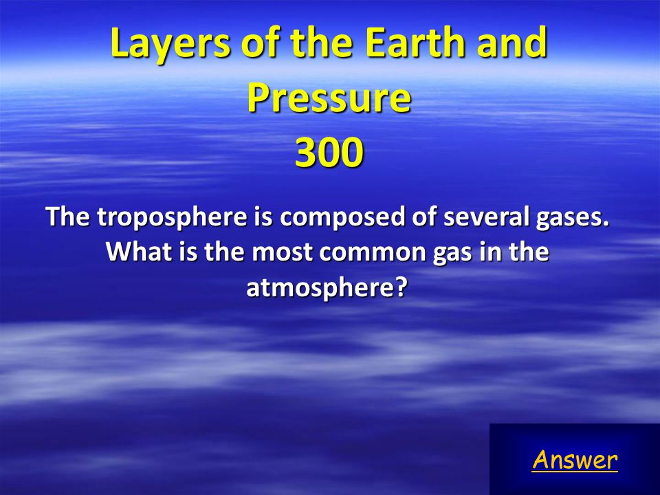 Layers of the Earth and Pressure 300