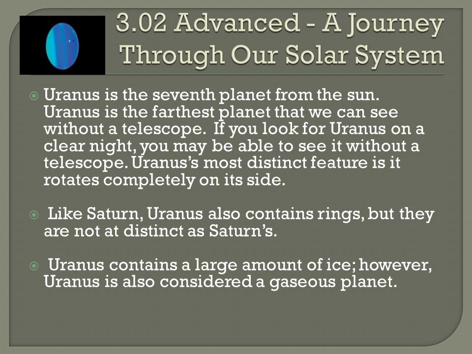 3.02 Advanced - A Journey Through Our Solar System