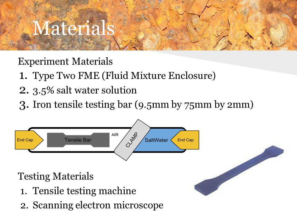 Materials Experiment Materials Type Two FME (Fluid Mixture Enclosure)