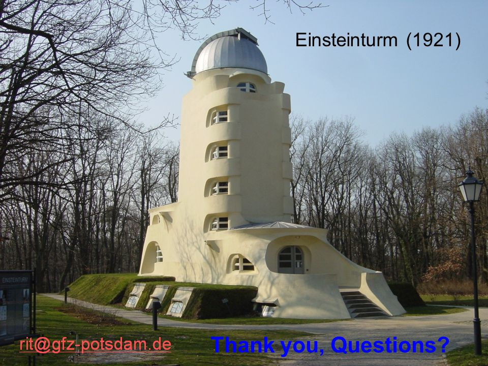 Einsteinturm (1921) Thank you, Questions