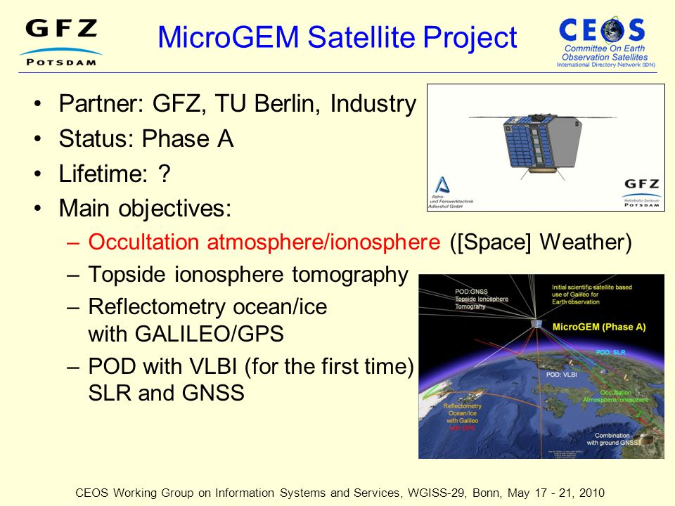 MicroGEM Satellite Project
