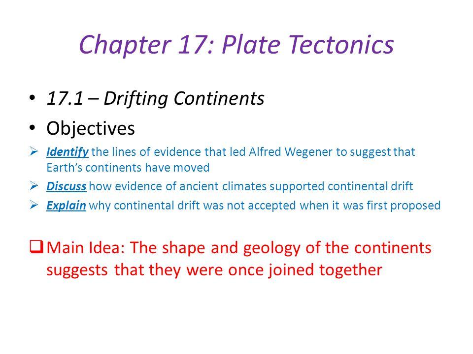 Chapter 17: Plate Tectonics