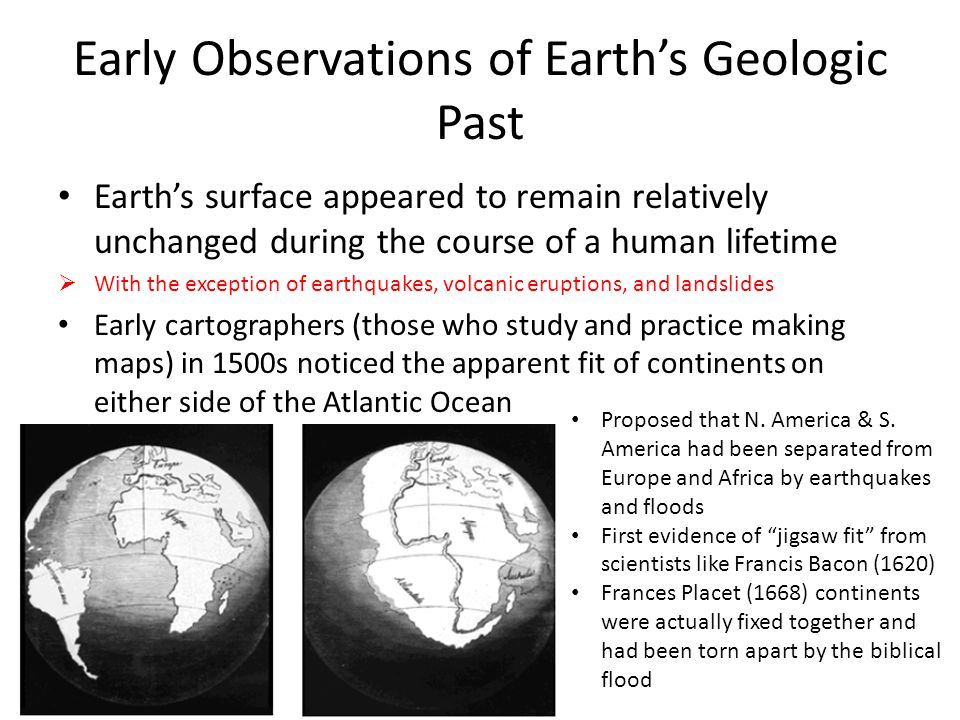 Early Observations of Earth's Geologic Past