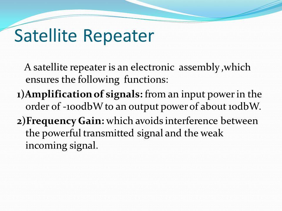 Satellite Repeater
